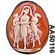 Three Graces Antique Shell Cameo