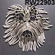 Fringed Wheaton Terrier Pin